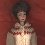 Vintage Hand Knit Fashion Doll Sweater
