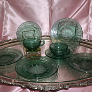 Depression Glass Doric and Pansy Pretty Polly Party Dishes