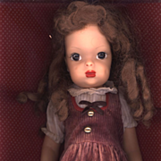 Vintage  Factory Made Corduroy Doll Dress