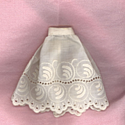 Antique White Eyelet Doll Slip