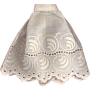 Antique White Eyelet Doll Slip