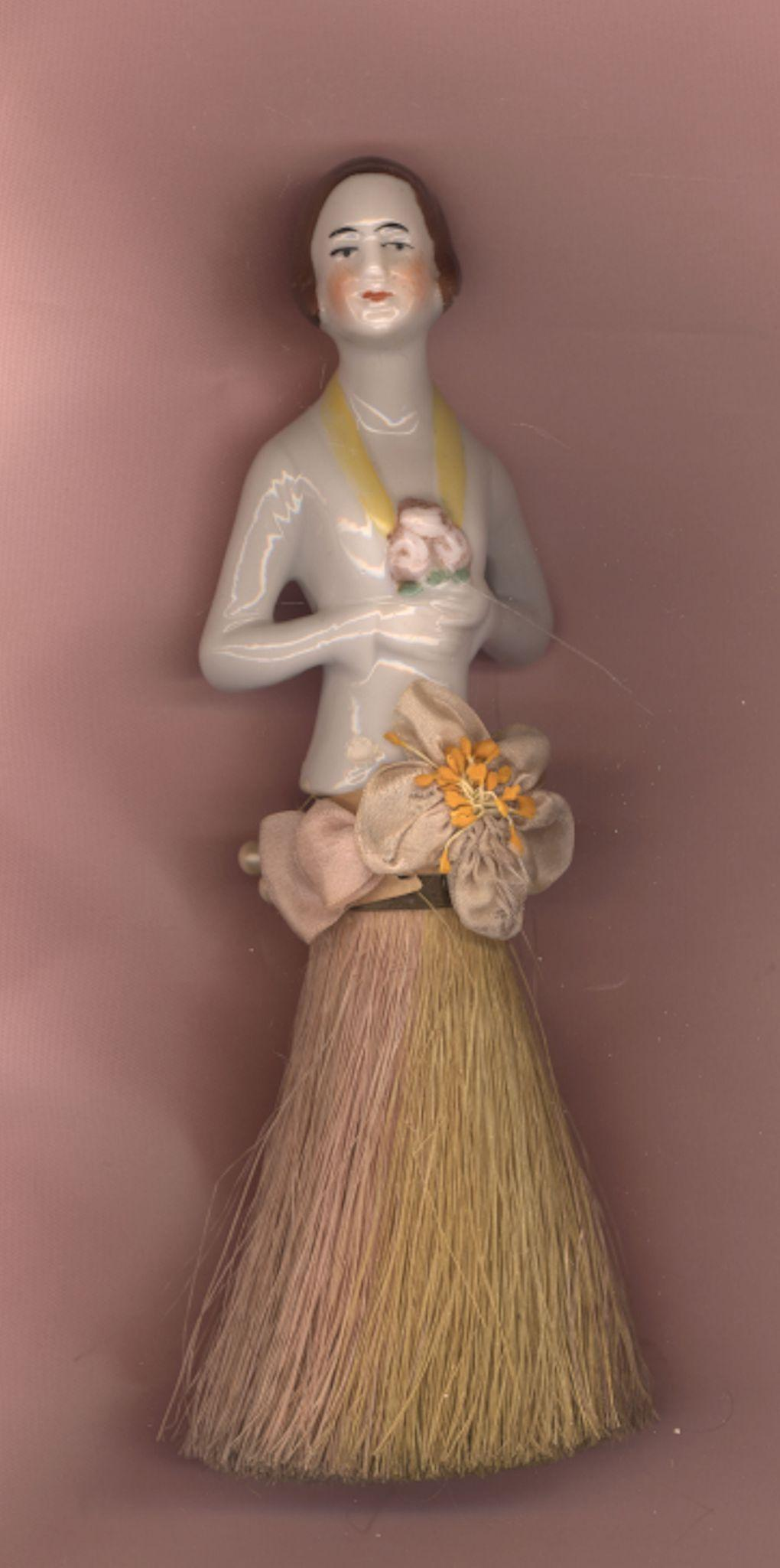 Vintage China Brush Doll