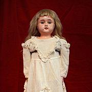 Antique Cream Colored Net Doll Dress