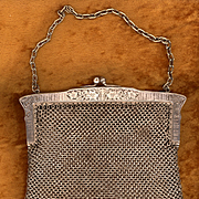 Antique German Silver Mesh Purse