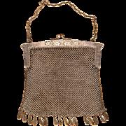 Antique German Silver Mesh Purse