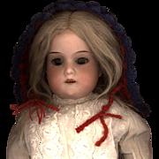 Vintage Doll Sunbonnet in Red Wool Yarn