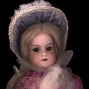 Vintage Blue Velvet Doll Bonnet