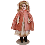 Antique Bisque Columbia Name Doll in an Antique Velvet Cape