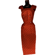 Vintage Barbie Fashion Rust Sheath Dress