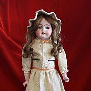 Antique Bisque Heinrich Handwerck in Antique Cream Wool Dress