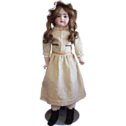 Antique Bisque Heinrich Handwerck in Antique Cream Wool Dress