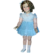 """36""""  Vinyl Shirley Temple from 1957 in Vintage Dress"""