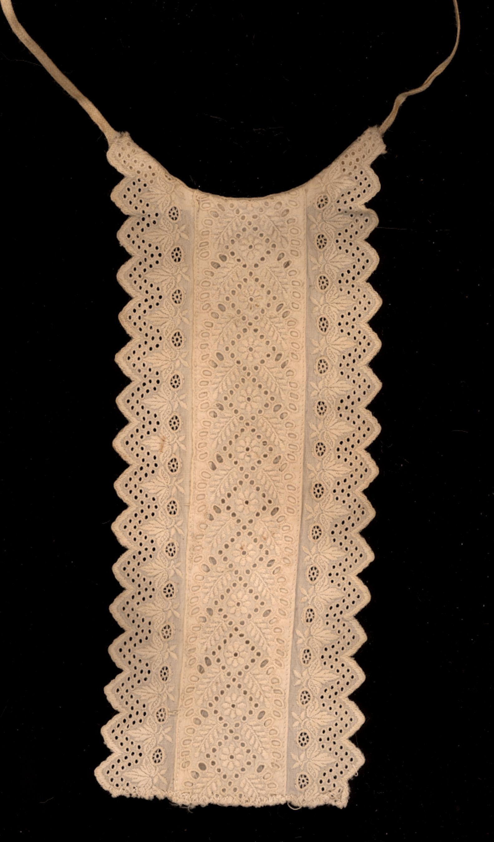 Victorian  Embroidered Cotton Insert for Doll Suit or Jacket