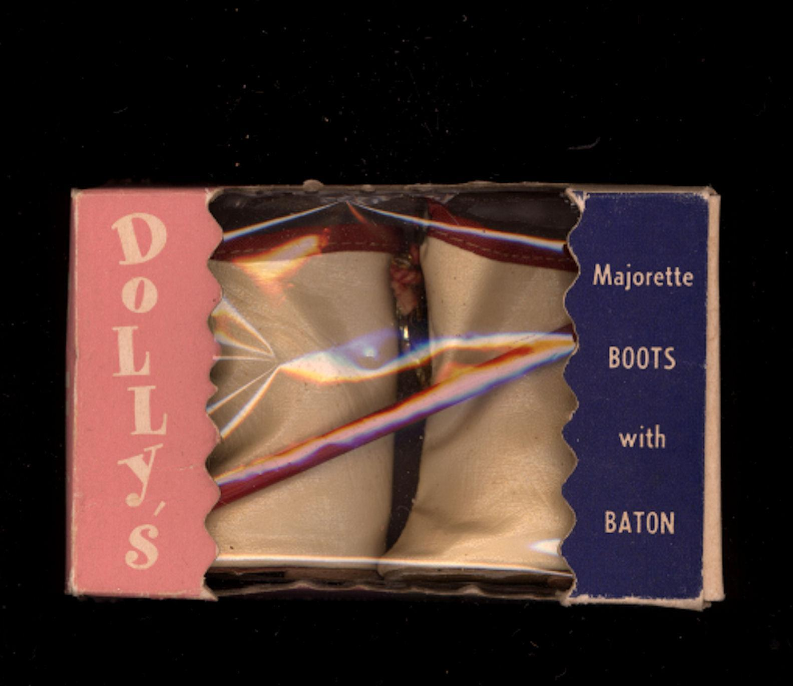 Leatherette Majorette Boots with Baton in Original Box