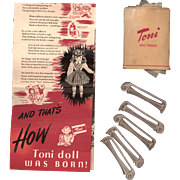 Ideal Toni Doll Brochure with Curlers and Tissues