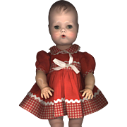 Vintage Red and White Check Doll Dress