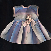 Vintage Taffeta Doll Dress in Pastel Stripes