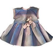 Vintage Taffeta Doll Dress in Pastel Stripes