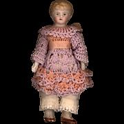Antique Bisque Doll House Child on Original Body