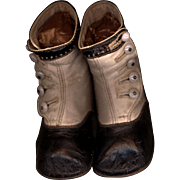 Antique Child's High Top Leather Shoes