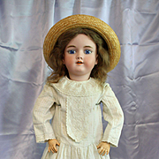 "Antique Bisque 28"" Handwerck Child in Antique Child's Dress"