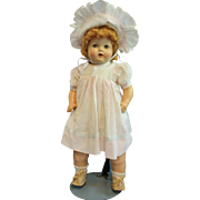 Composition Mama Doll with Working Cry Box in Original Clothes
