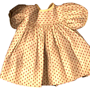 Vintage Doll Dress in Floral Cream Cotton