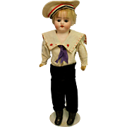 Antique German Bisque Boy Doll