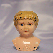 Antique Minerva Metal Doll Head