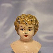 Antique Metal Juno Doll Head