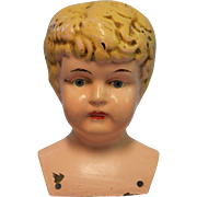 Antique Metal Doll Head