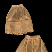 Antique Doll Slips in Cream Wool and Cotton