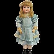 Antique Bisque Schoenau Hoffmeister 1909 in Vintage Silk Dress