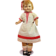 Composition Metropolitan Doll Company Doll with Molded Hair Loop in Original Clothes