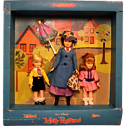 Vintage Horsman Mary Poppins Michael and Jane Gift Set in Box - Red Tag Sale Item