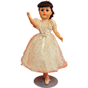 Vintage 1950's Ballerina Doll in Original Dress