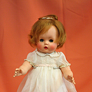 Vintage Madame Alexander Rosebud Baby in Original Dress