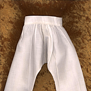 Antique White Cotton Doll Pantaloons with Lace Trim