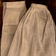 Vintage Eggshell Cotton Doll Slip and Pantaloon Set
