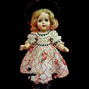 Composition Girl In Original Cotton Print Dress