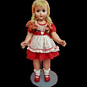 Hard Plastic Girl all Original in ABC Print Dress
