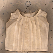 Antique Doll Camisole in Cream Cotton with Pleats