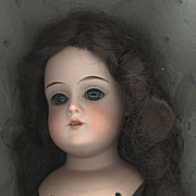 Antique Bisque Doll Head with Sleep Eyes