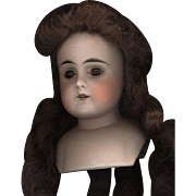 Antique Bisque Doll Head with Pierced Ears