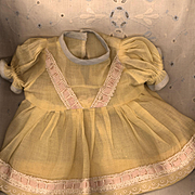 Vintage Yellow Organdy Doll Dress