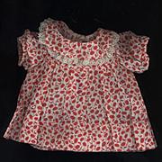 Vintage Cotton Print Doll Dress
