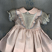 Vintage Factory Made Doll Dress in Polished Cotton