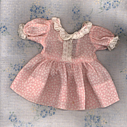 Vintage Factory Made Doll Dress with Lace Trim