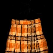 Vintage Wool Plaid Doll Skirt