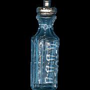 Antique American Cut Glass Bitters Bottle